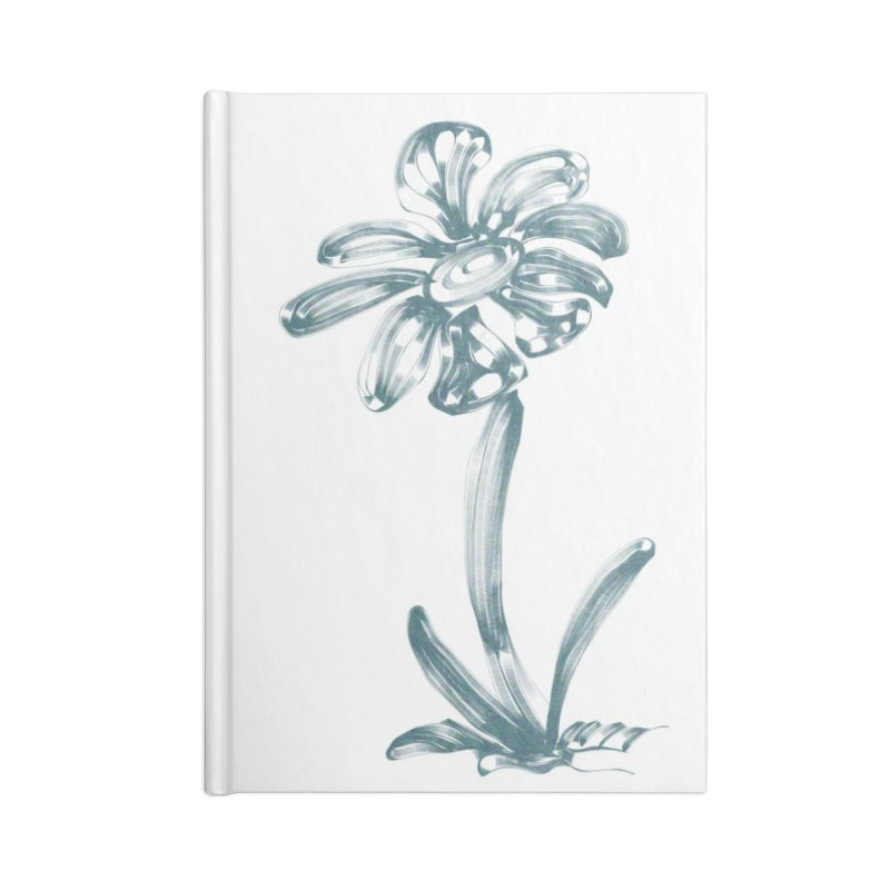 Futuristic Flower Accessories Lined Journal Notebook by Magic Pixel's Artist Shop