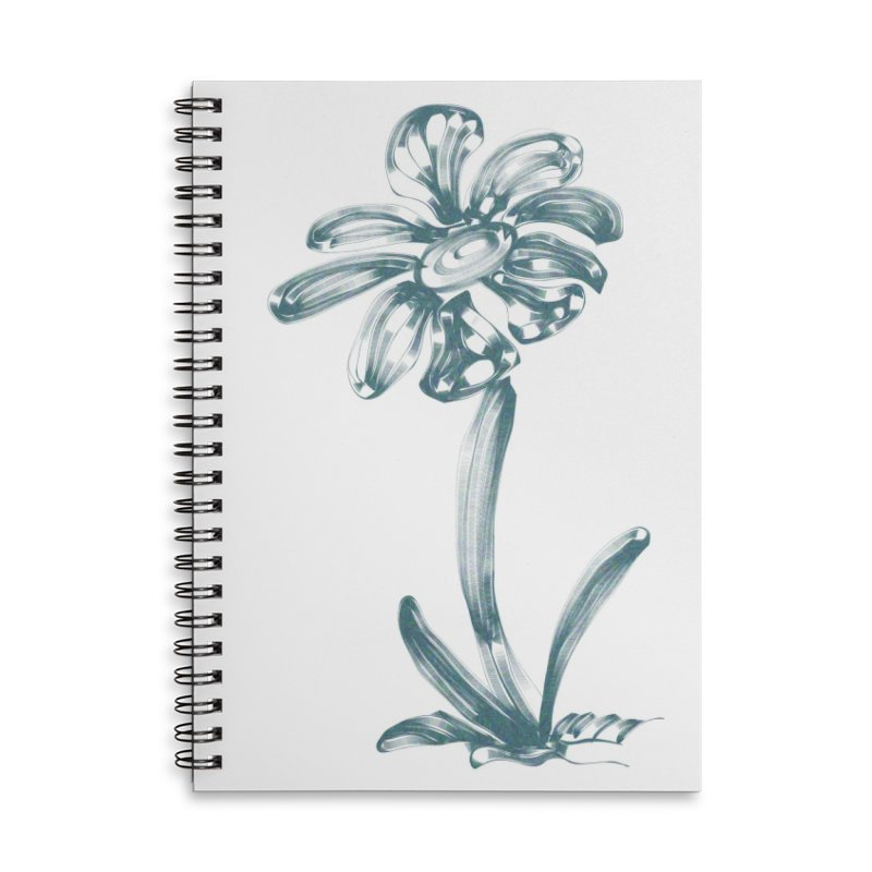 Futuristic Flower Accessories Lined Spiral Notebook by Magic Pixel's Artist Shop