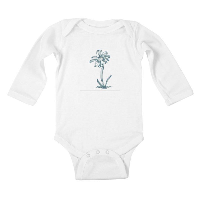 Futuristic Flower Kids Baby Longsleeve Bodysuit by Magic Pixel's Artist Shop