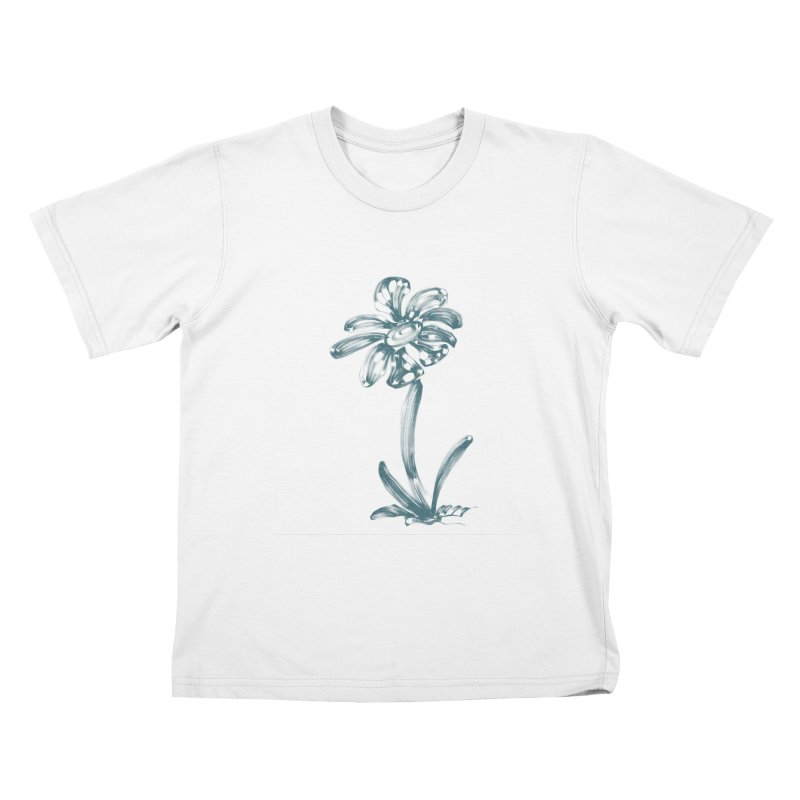 Futuristic Flower Kids T-Shirt by Magic Pixel's Artist Shop