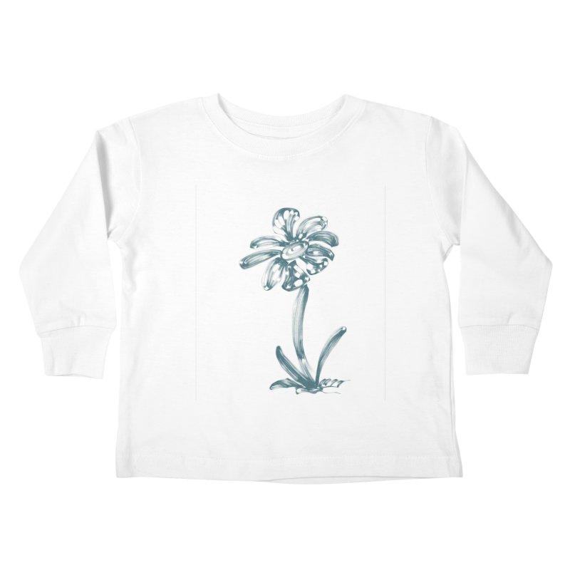 Futuristic Flower Kids Toddler Longsleeve T-Shirt by Magic Pixel's Artist Shop