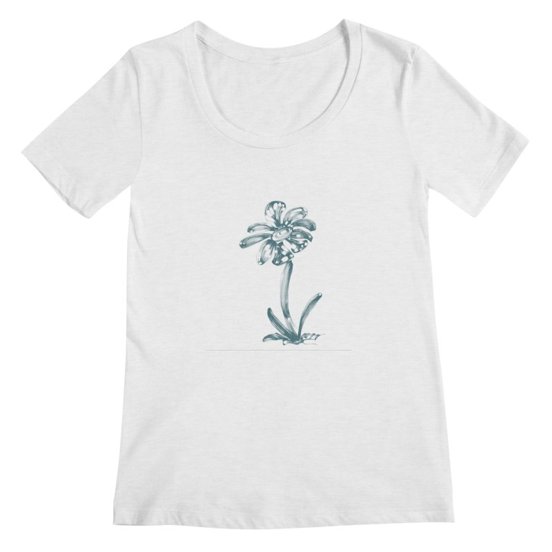 Futuristic Flower Women's Regular Scoop Neck by Magic Pixel's Artist Shop