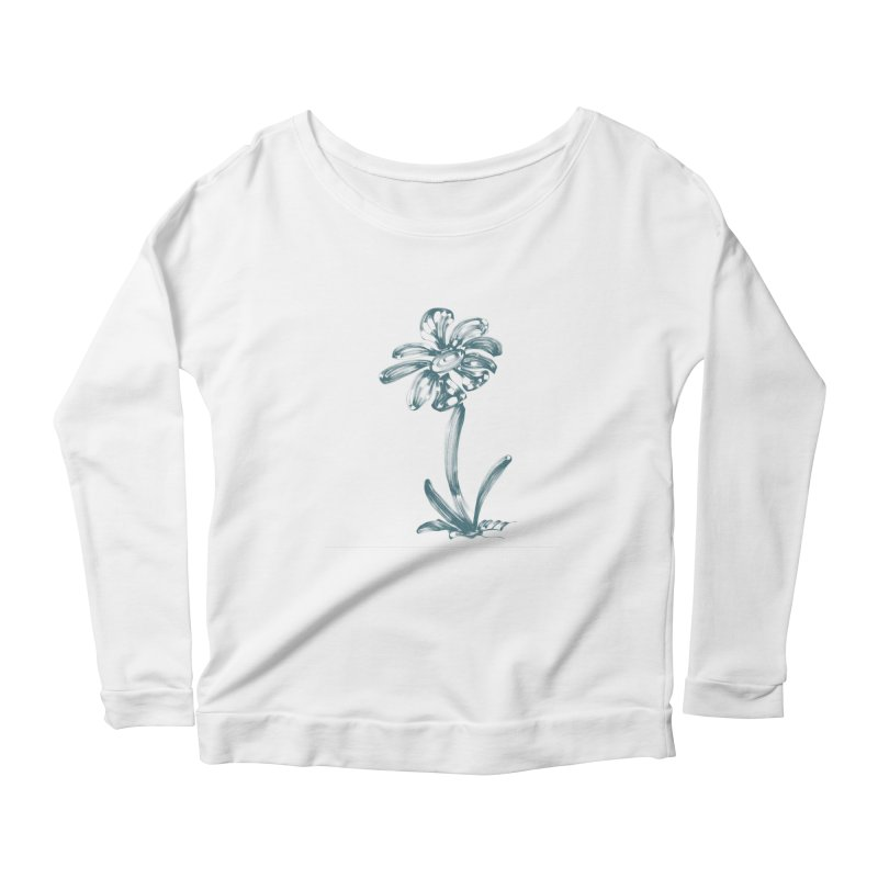 Futuristic Flower Women's Scoop Neck Longsleeve T-Shirt by Magic Pixel's Artist Shop