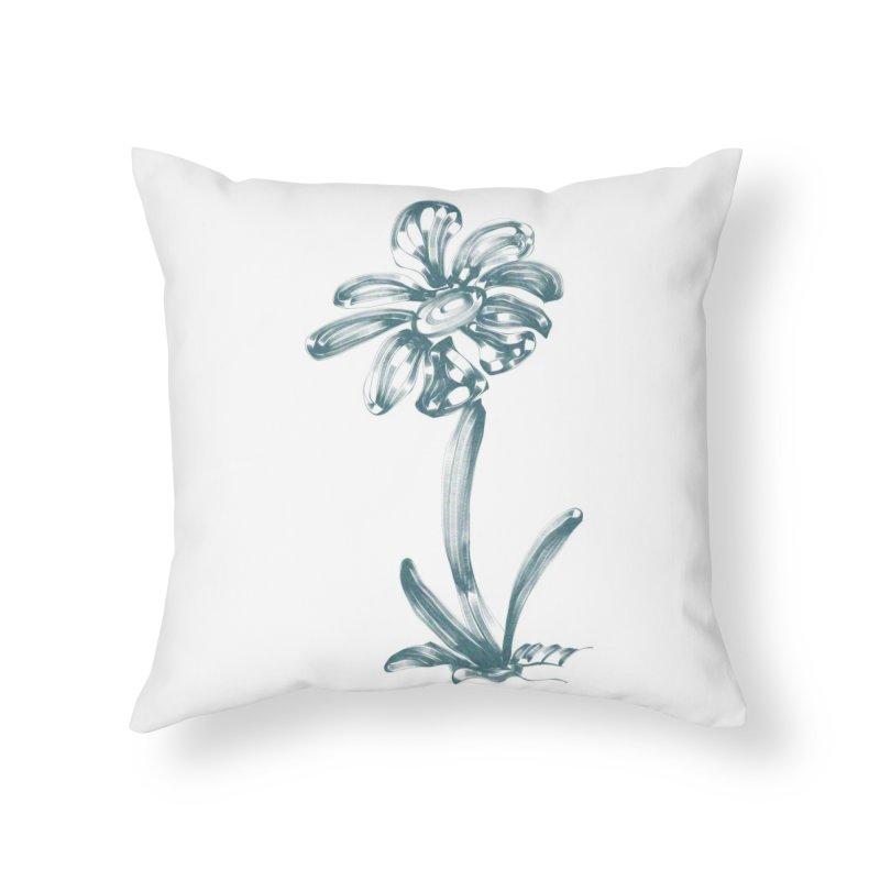 Futuristic Flower Home Throw Pillow by Magic Pixel's Artist Shop