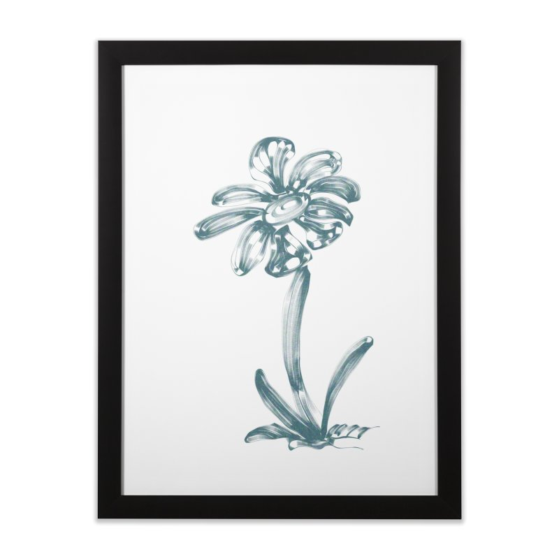 Futuristic Flower Home Framed Fine Art Print by Magic Pixel's Artist Shop