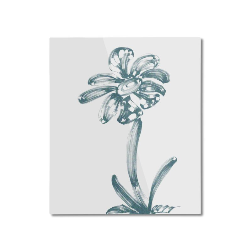 Futuristic Flower Home Mounted Aluminum Print by Magic Pixel's Artist Shop