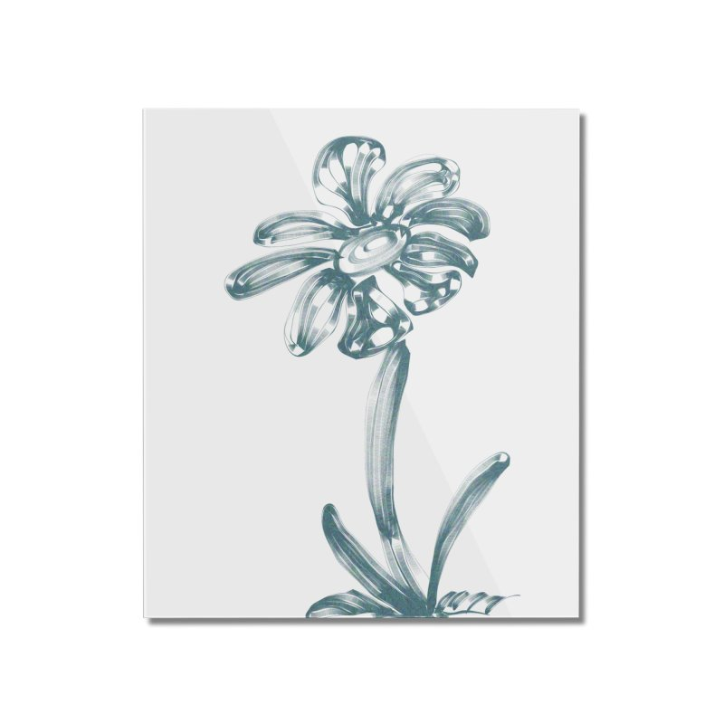Futuristic Flower Home Mounted Acrylic Print by Magic Pixel's Artist Shop