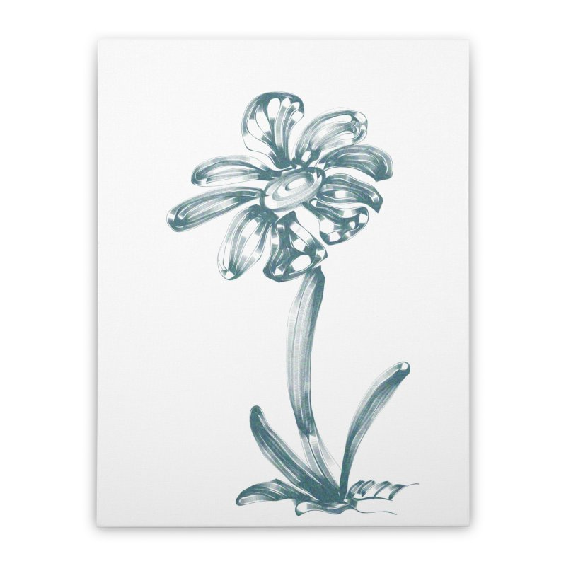 Futuristic Flower Home Stretched Canvas by Magic Pixel's Artist Shop