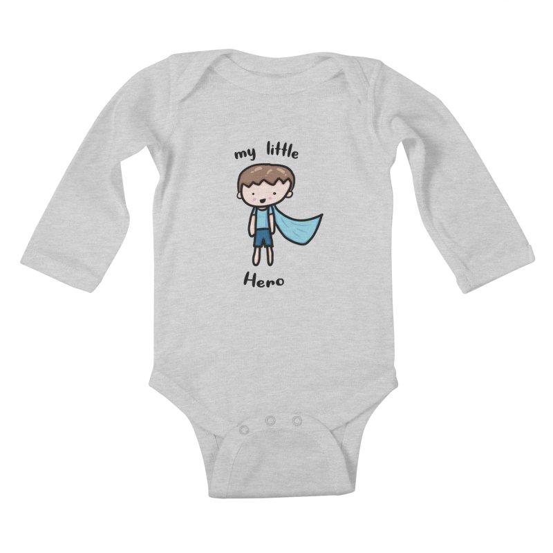 my little Hero Kids Baby Longsleeve Bodysuit by Magic Pixel's Artist Shop