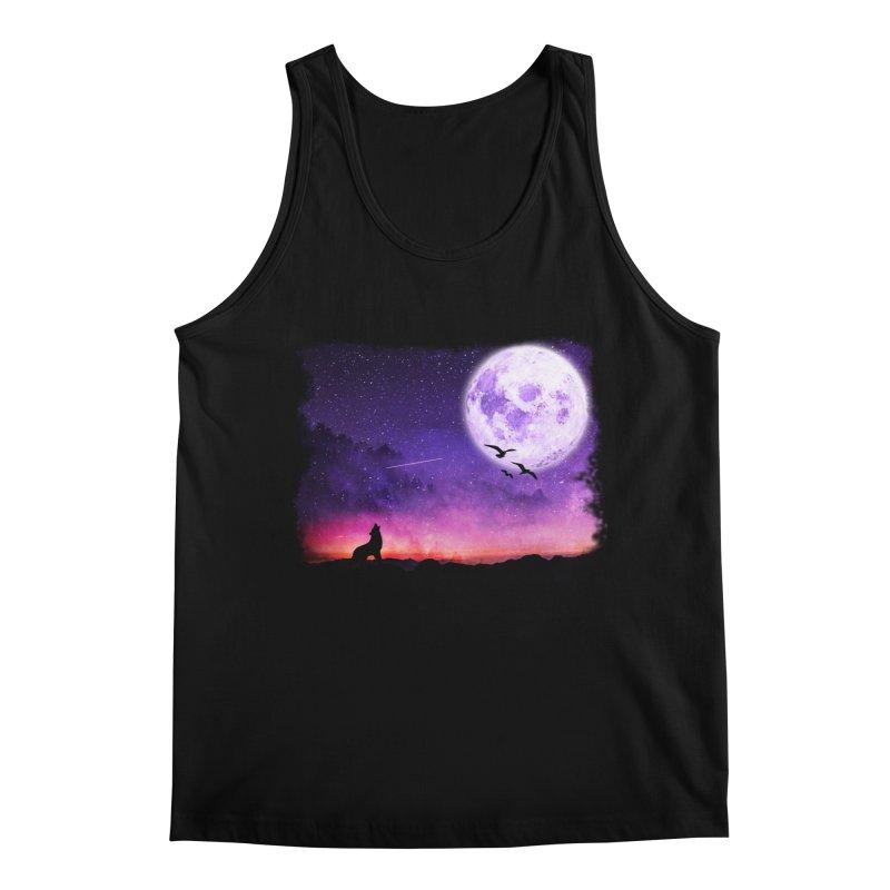 Baying to the Moon Men's Regular Tank by Magic Pixel's Artist Shop
