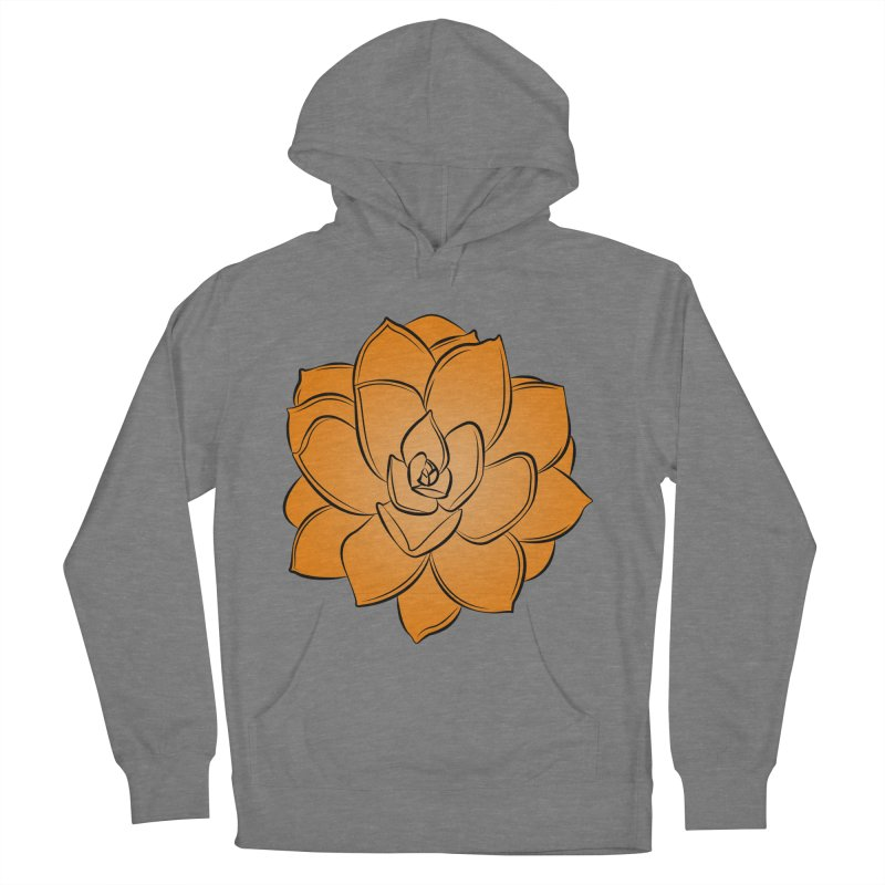 Bright Cactus Rose Women's French Terry Pullover Hoody by Magic Pixel's Artist Shop