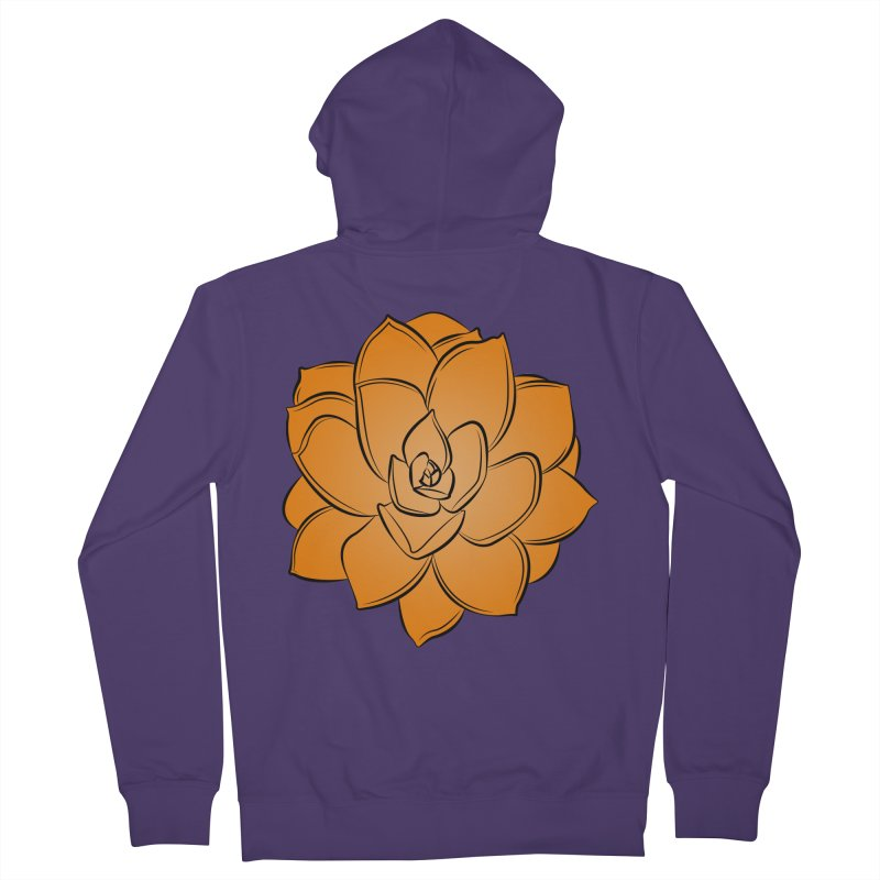 Bright Cactus Rose Women's French Terry Zip-Up Hoody by Magic Pixel's Artist Shop