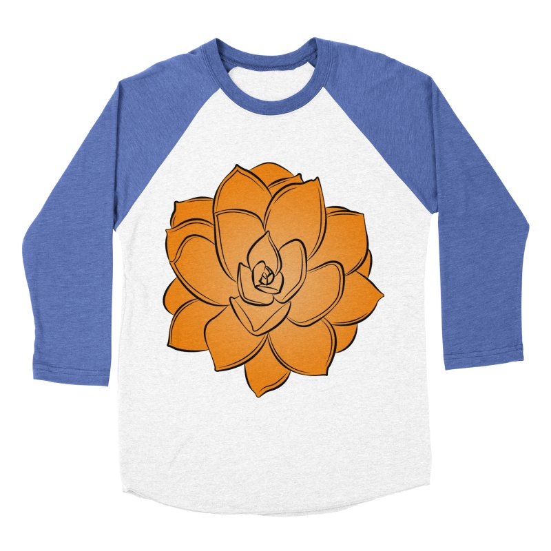 Bright Cactus Rose Women's Baseball Triblend Longsleeve T-Shirt by Magic Pixel's Artist Shop