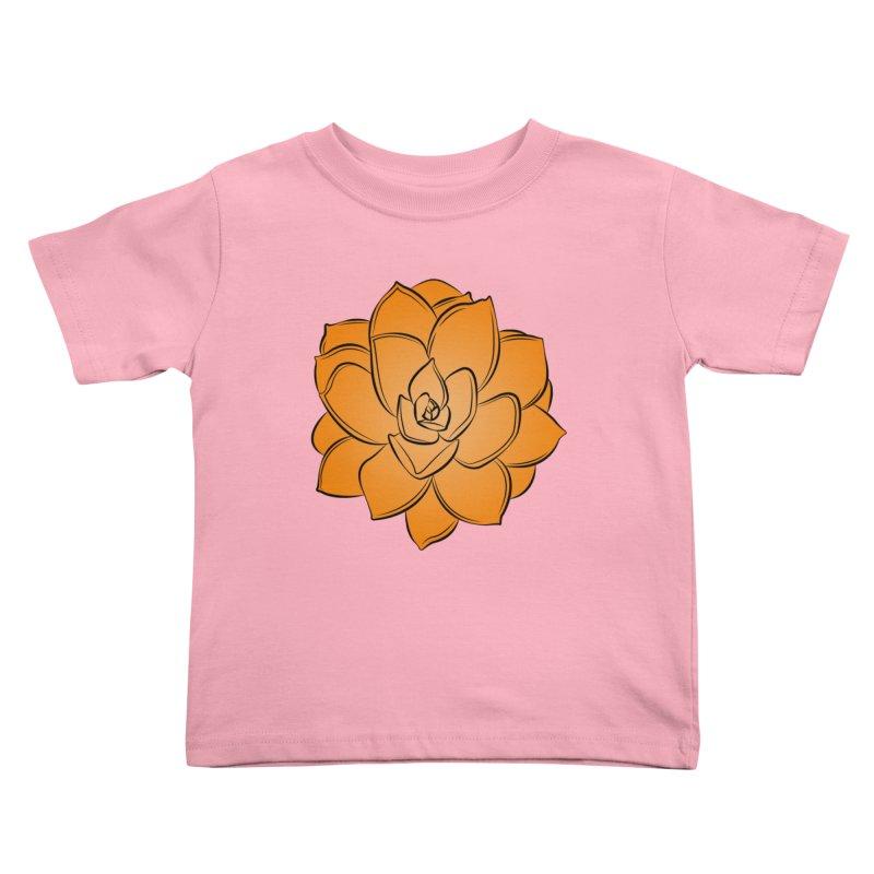 Bright Cactus Rose Kids Toddler T-Shirt by Magic Pixel's Artist Shop