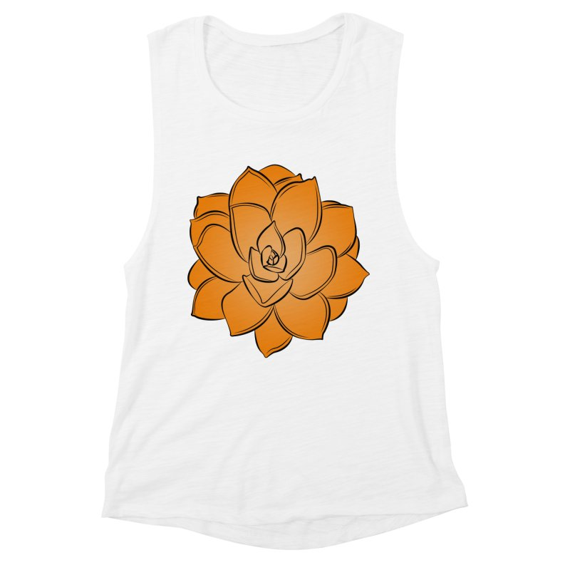 Bright Cactus Rose Women's Muscle Tank by Magic Pixel's Artist Shop