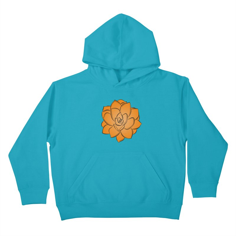 Bright Cactus Rose Kids Pullover Hoody by Magic Pixel's Artist Shop