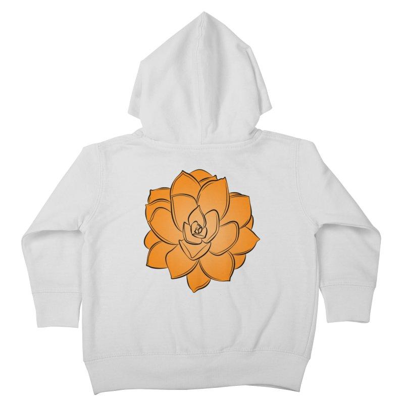 Bright Cactus Rose Kids Toddler Zip-Up Hoody by Magic Pixel's Artist Shop
