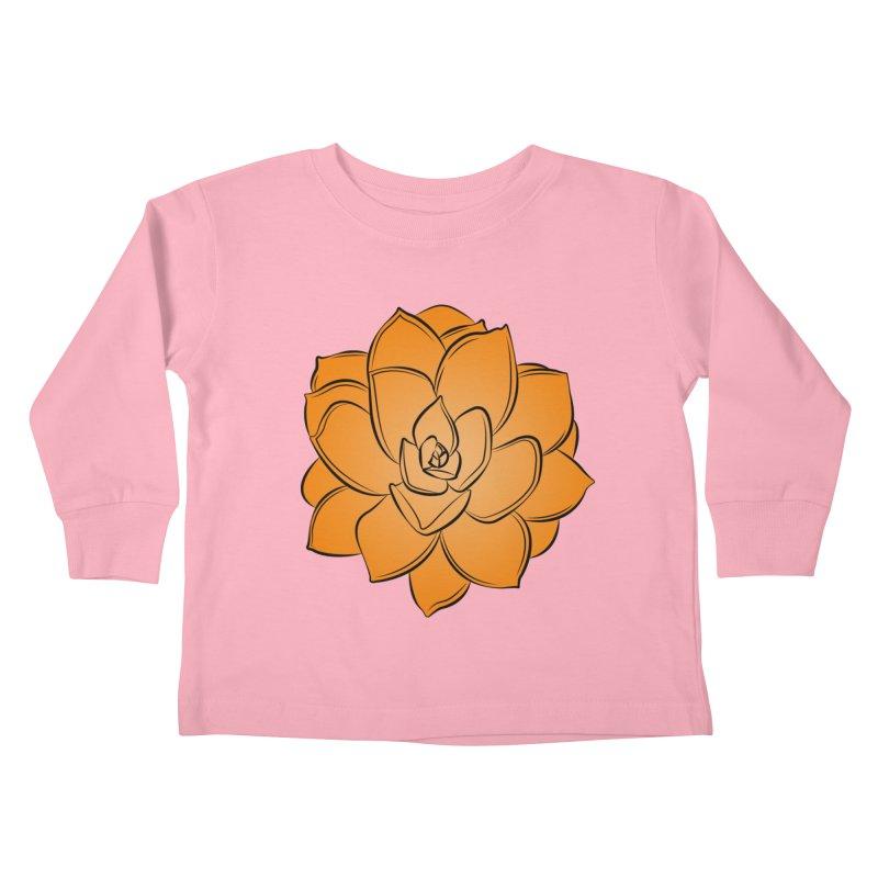 Bright Cactus Rose Kids Toddler Longsleeve T-Shirt by Magic Pixel's Artist Shop