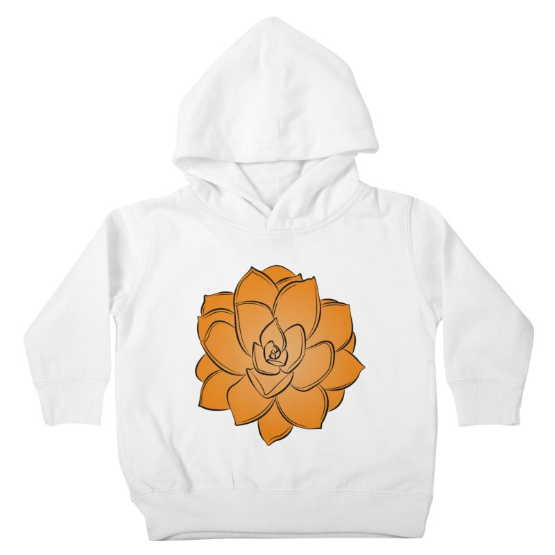 Bright Cactus Rose Kids Toddler Pullover Hoody by Magic Pixel's Artist Shop