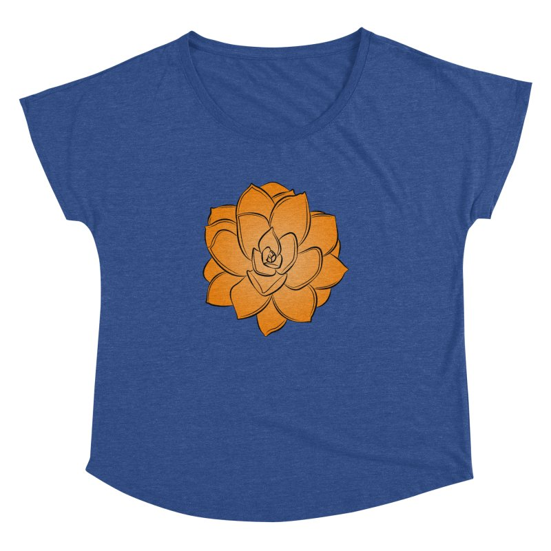 Bright Cactus Rose Women's Dolman Scoop Neck by Magic Pixel's Artist Shop