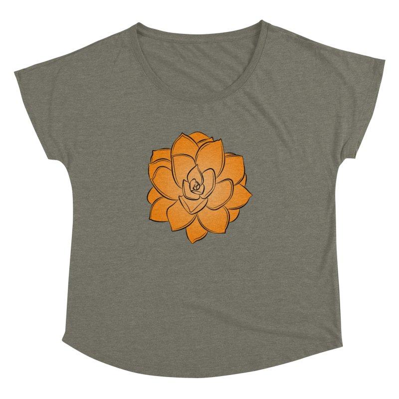 Bright Cactus Rose Women's Dolman Scoop Neck by Magic Pixel's Artist Shop