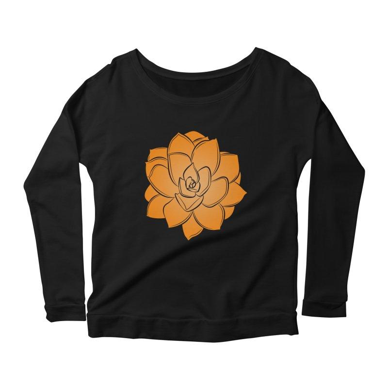 Bright Cactus Rose Women's Scoop Neck Longsleeve T-Shirt by Magic Pixel's Artist Shop