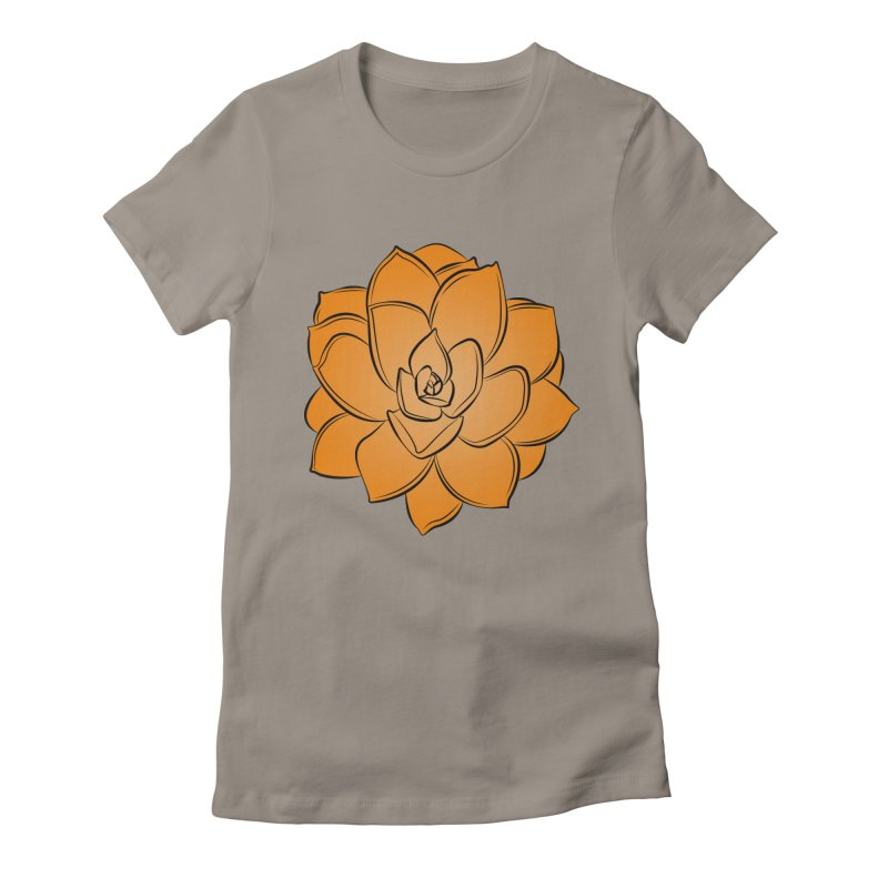 Bright Cactus Rose Women's Fitted T-Shirt by Magic Pixel's Artist Shop