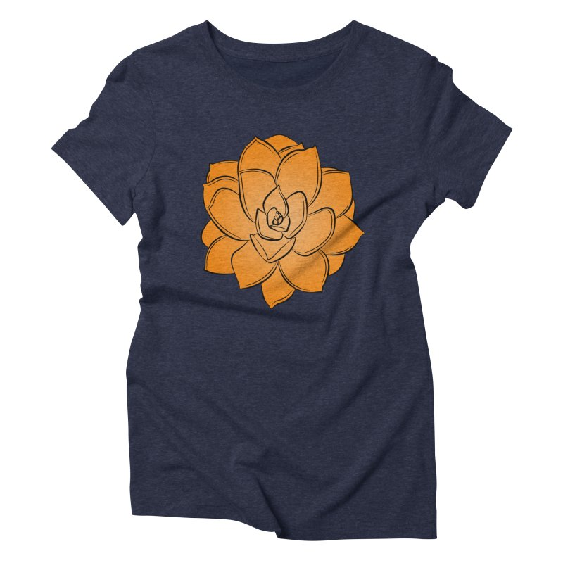 Bright Cactus Rose Women's Triblend T-Shirt by Magic Pixel's Artist Shop