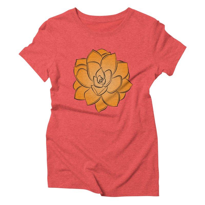 Bright Cactus Rose Women's Triblend T-Shirt by Magic Pixel's Artist Shop