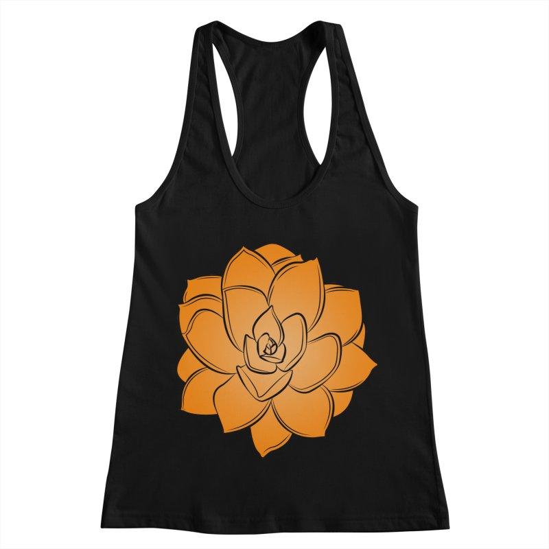 Bright Cactus Rose Women's Racerback Tank by Magic Pixel's Artist Shop