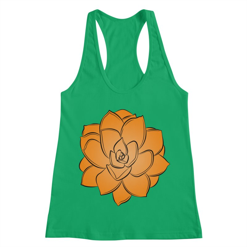 Bright Cactus Rose Women's Racerback Tank by Magic Pixel's Artist Shop