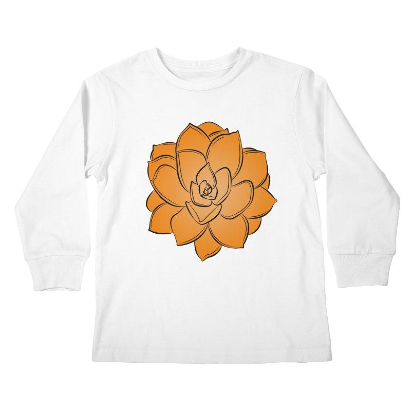 Bright Cactus Rose Kids Longsleeve T-Shirt by Magic Pixel's Artist Shop