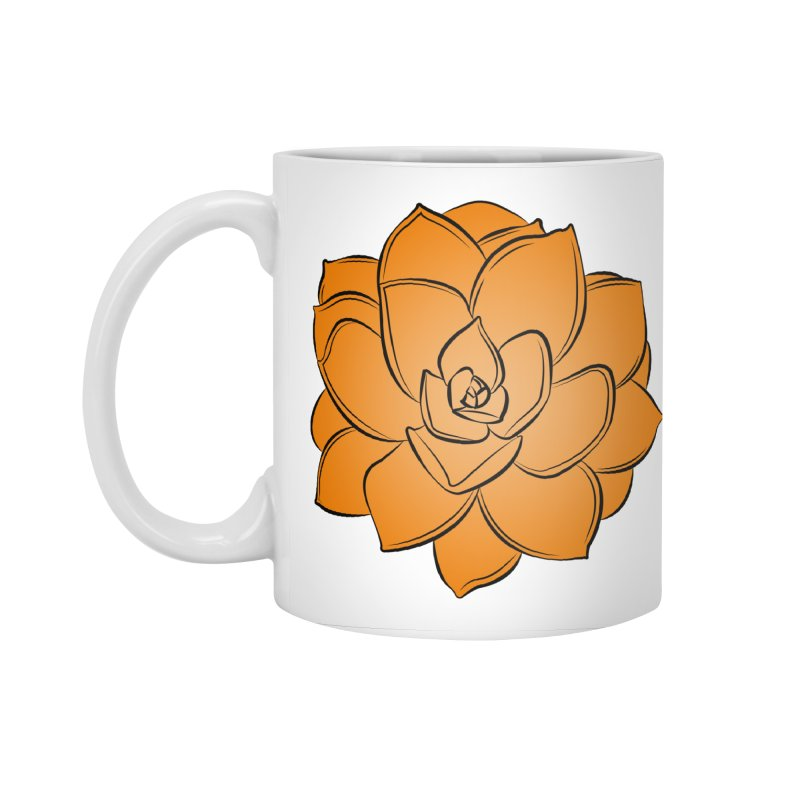 Bright Cactus Rose Accessories Standard Mug by Magic Pixel's Artist Shop