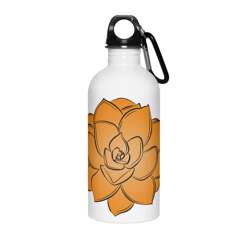 Bright Cactus Rose Accessories Water Bottle by Magic Pixel's Artist Shop