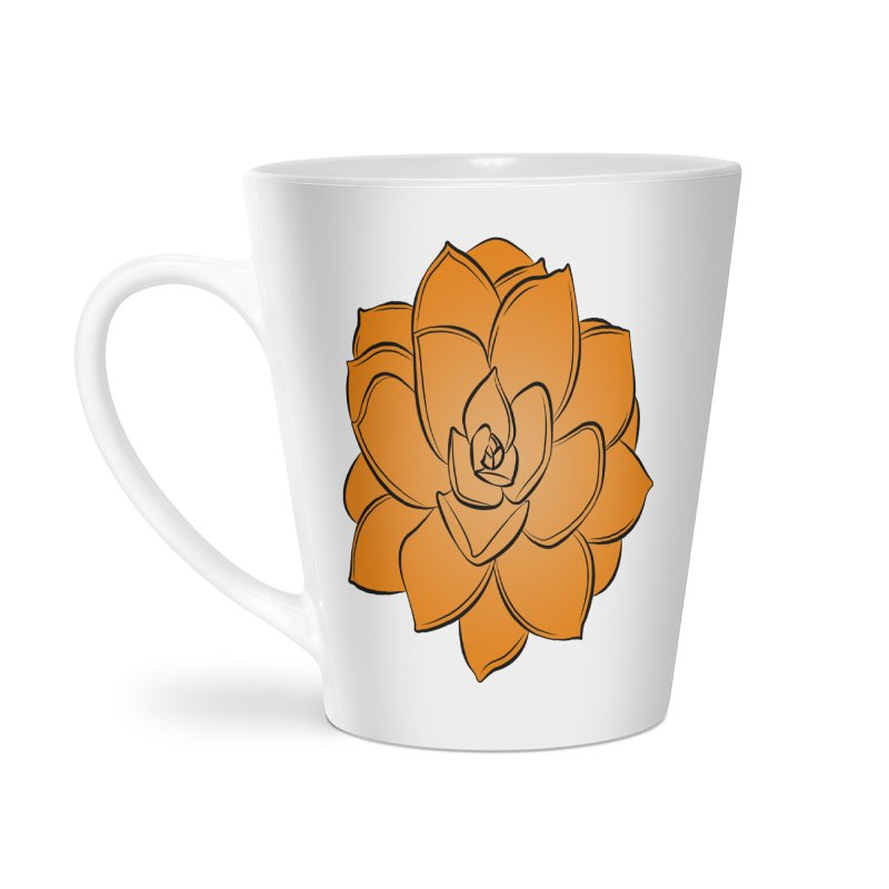 Bright Cactus Rose Accessories Latte Mug by Magic Pixel's Artist Shop