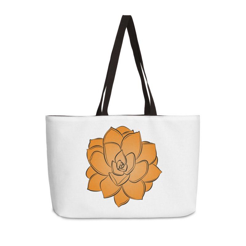 Bright Cactus Rose Accessories Weekender Bag Bag by Magic Pixel's Artist Shop