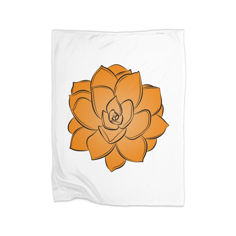 Bright Cactus Rose Home Blanket by Magic Pixel's Artist Shop