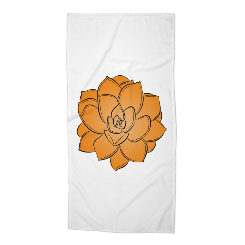 Bright Cactus Rose Accessories Beach Towel by Magic Pixel's Artist Shop