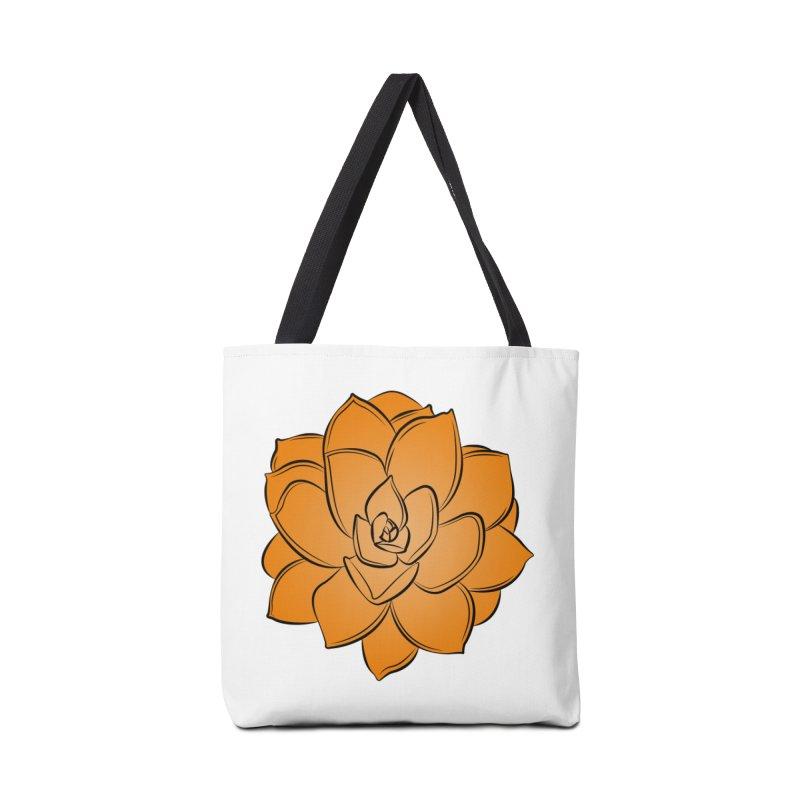 Bright Cactus Rose Accessories Tote Bag Bag by Magic Pixel's Artist Shop
