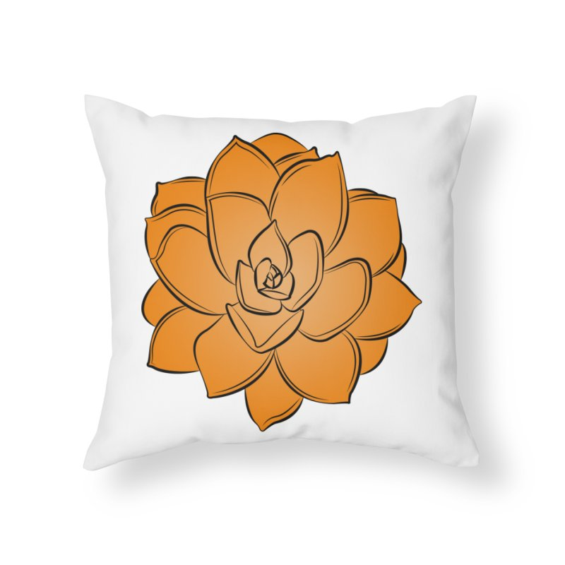 Bright Cactus Rose Home Throw Pillow by Magic Pixel's Artist Shop