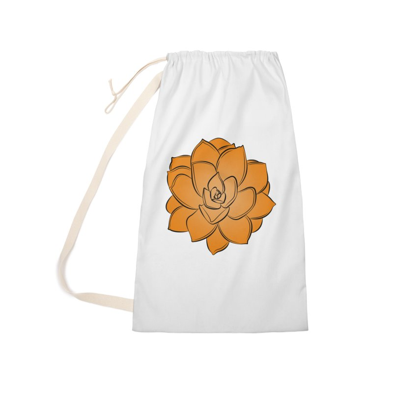 Bright Cactus Rose Accessories Laundry Bag Bag by Magic Pixel's Artist Shop