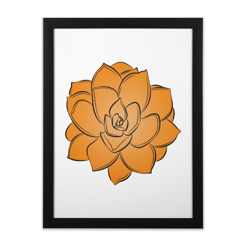 Bright Cactus Rose Home Framed Fine Art Print by Magic Pixel's Artist Shop