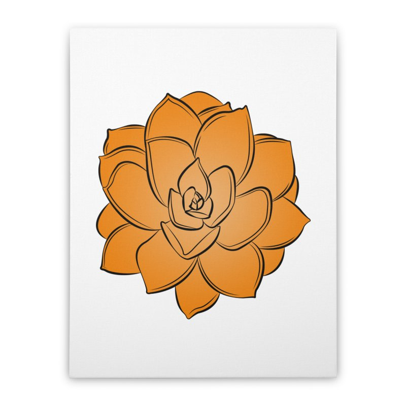 Bright Cactus Rose Home Stretched Canvas by Magic Pixel's Artist Shop