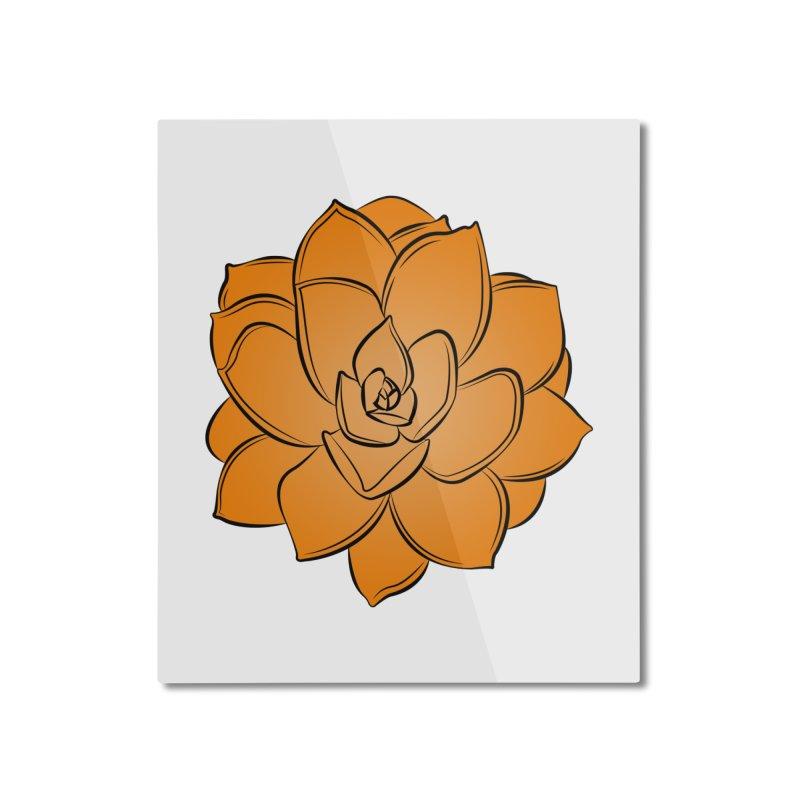 Bright Cactus Rose Home Mounted Aluminum Print by Magic Pixel's Artist Shop