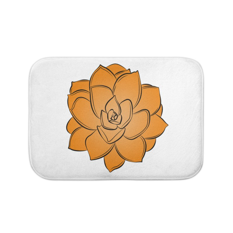 Bright Cactus Rose Home Bath Mat by Magic Pixel's Artist Shop