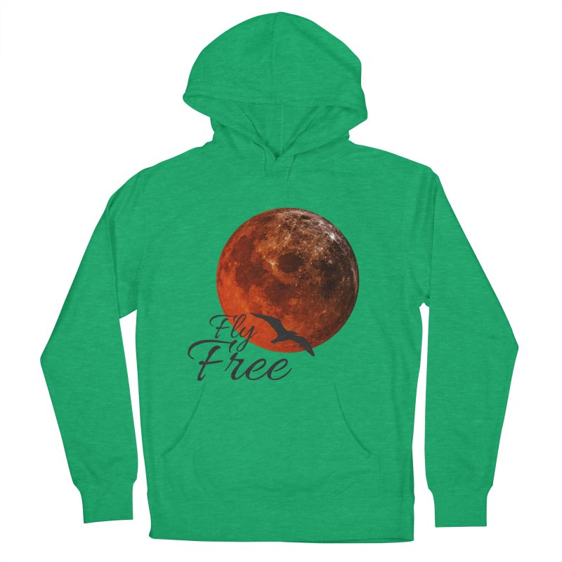 Fly Free Men's French Terry Pullover Hoody by Magic Pixel's Artist Shop
