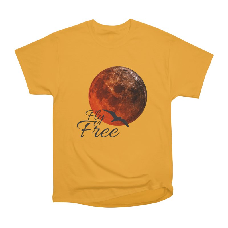 Fly Free Men's Heavyweight T-Shirt by Magic Pixel's Artist Shop