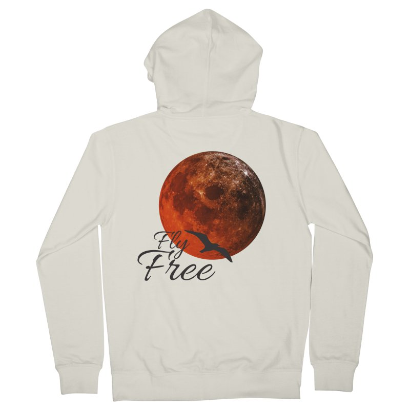 Fly Free Women's French Terry Zip-Up Hoody by Magic Pixel's Artist Shop