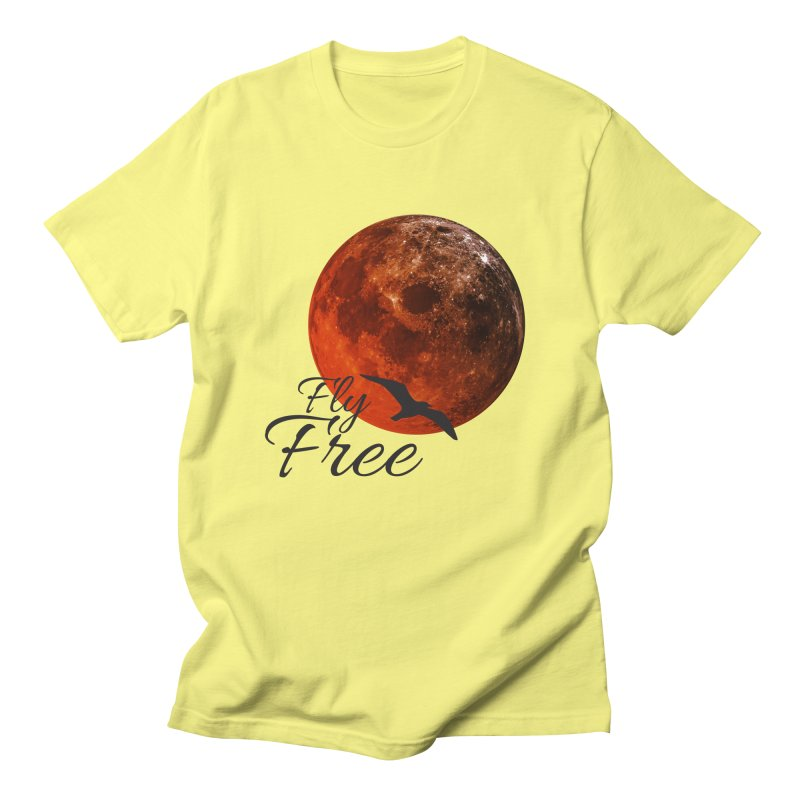 Fly Free Women's Regular Unisex T-Shirt by Magic Pixel's Artist Shop