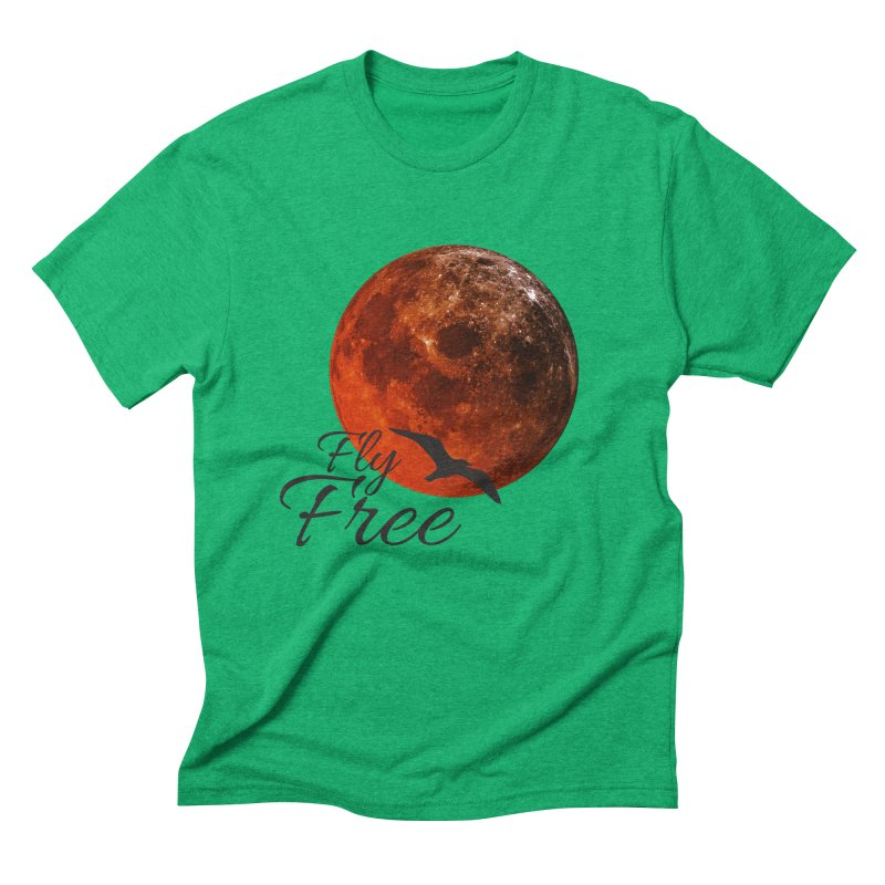 Fly Free Men's Triblend T-Shirt by Magic Pixel's Artist Shop